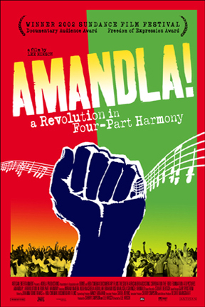 poster for Amandla! A Revolution in Four-Part Harmony