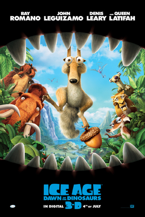 poster for Ice Age: Dawn of the Dinosaurs 3D