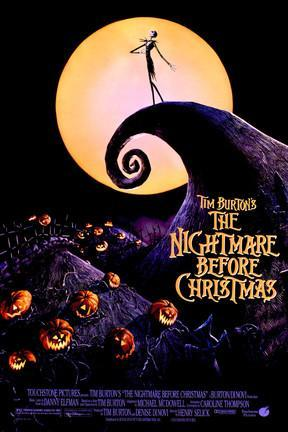 poster for Tim Burton's The Nightmare Before Christmas