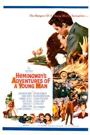 poster for Hemingway's Adventures of a Young Man