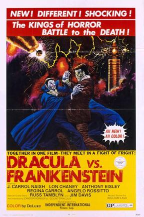 poster for Dracula vs. Frankenstein