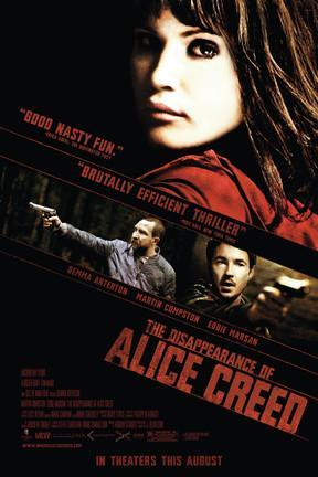 poster for The Disappearance of Alice Creed