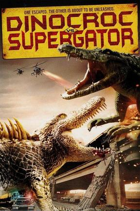 poster for Dinocroc vs. Supergator