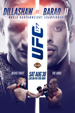 poster for UFC 177:  Dillashaw vs. Barao II - LIVE