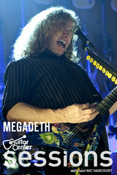 poster for Guitar Center Sessions Megadeth
