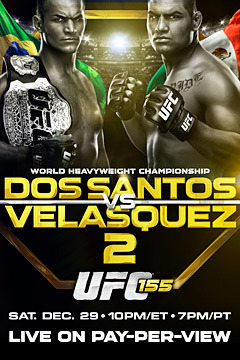 poster for UFC 155: Dos Santos vs. Velasquez 2 - Replay