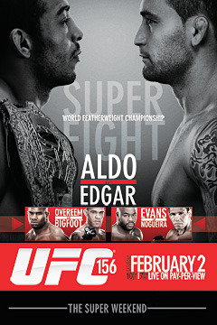 poster for UFC 156: Aldo vs. Edgar - Replay