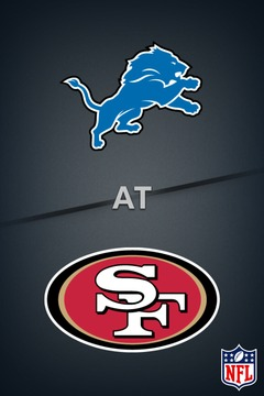 poster for Lions @ 49ers