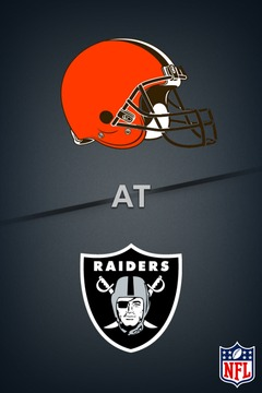 poster for Browns @ Raiders