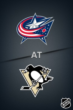 poster for Blue Jackets @ Penguins