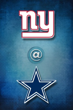poster for Giants @ Cowboys