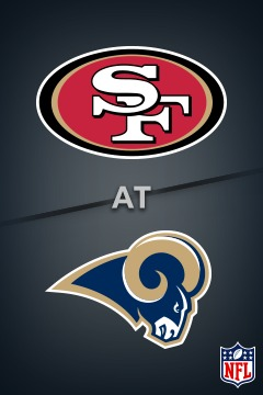 poster for 49ers @ Rams