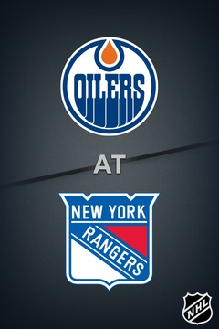 poster for Oilers @ Rangers