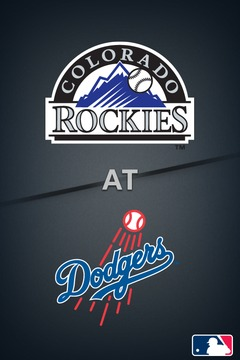 poster for Rockies @ Dodgers