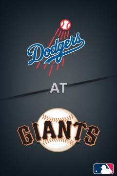 poster for Dodgers @ Giants