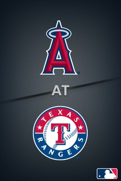 poster for Angels @ Rangers