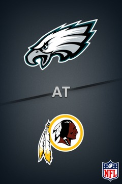 poster for Eagles @ Redskins