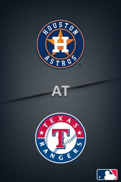 poster for Astros @ Rangers